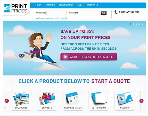 Automated print quoting systems can make your print buying much more efficient.  Here's a screenshot from the 3 Print Prices system.